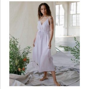 M Lincoln Dress//Lined Lavender Gingham